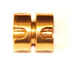 Short socket coupling, brass, 4 x M4 threads
