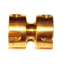 Long socket coupling, brass, 4 x M4 threads