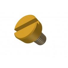 Bolt, brass, 10mm, M4-thread, 100 pieces