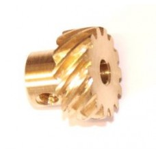 Helical gear 40t, left (=/); 23DPI; 6.35mm flank