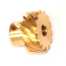 Helical gear 14t, right (=\); 23DPI; 6.35mm flank