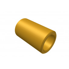 Distance sleeve, 10mm, brass