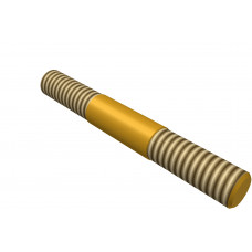 Distance rod, double sided thread, 30mm, brass