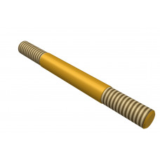 Distance rod, double sided thread, 40mm, brass