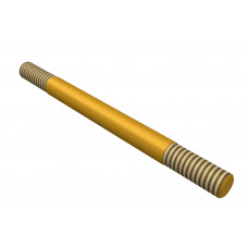 Distance rod, double sided thread, 50mm, brass