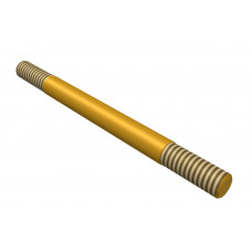 Distance rod, double sided thread, 70mm, brass