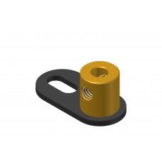 Crank, 1 short slot, brass boss M4