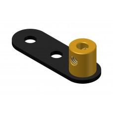 Crank, 2 round holes, brass boss M4