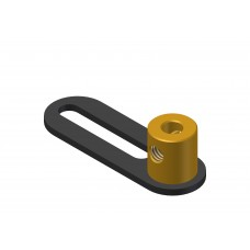 Crank, 1 x 1/2\'-slot, brass boss M4