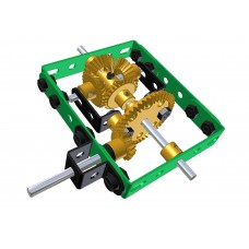 Construction set differential gearbox
