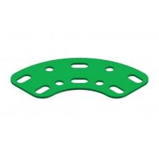 Flat curved girder, 5 holes