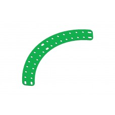 Flat curved girder, 17 holes