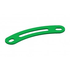 Curved strip, 2 holes, one long slot