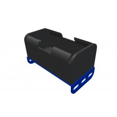 Battery holder for 1 x UM1/Mono, blue double bend strip
