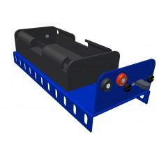 Battery holder for 4 x UM2/Baby, blue, with switch