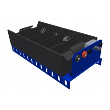 Battery holder for 4 x UM1/Mono, blue, with switch
