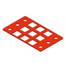 Flat window, 3 x 3 squares