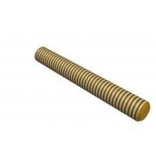 Threaded rod, 30mm, brass, M4