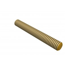 Threaded rod, 70mm, brass, M4