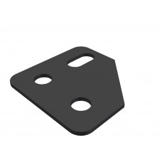 Corner bracket, 3 holes, cutted edge