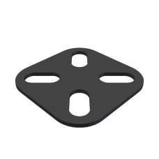 Square corner bracket, 4 short slots