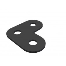 Corner bracket, 3 holes