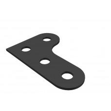 Corner bracket, 4 holes, L-shape