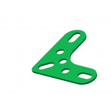 Corner bracket, 3 holes, 3 short slots
