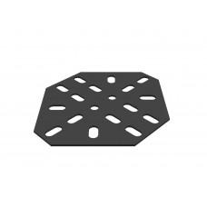 Large flat bracket, 18 holes, black