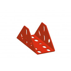 Large flanged bracket, 18 holes, red
