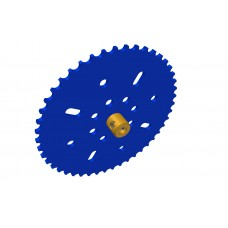 Sprocket wheel 46t, for Märklin chain, 2 x M4 threads