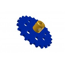 Sprocket wheel 23t, for bush-roller chain, 2 x M4 threads