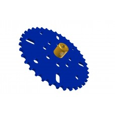 Sprocket wheel 37t, for bush-roller chain, 2 x M4 threads