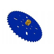 Sprocket wheel 46t, for bush-roller chain, 2 x M4 threads