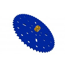 Sprocket wheel 53t, for bush-roller chain, 2 x M4 threads