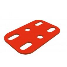 Flat plate, 3 x 2 holes