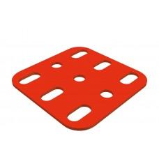 Flat plate, 3 x 3 holes