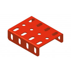 Flanged plate, 3 x 4 holes