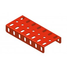 Flanged plate, 3 x 7 holes