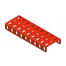 Flanged plate, 3 x 9 holes