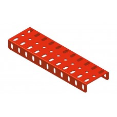 Flanged plate, 3 x 11 holes
