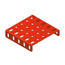 Flanged plate, 5 x 5 holes