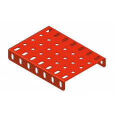 Flanged plate, 5 x 7 holes