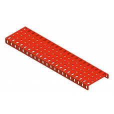 Flanged plate, 5 x 21 holes