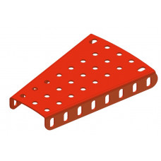 Flanged sector plate, 3 to 5 holes, 8h long