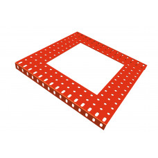 Flanged plate, 15 x 15 holes, with 9 x 9h extract