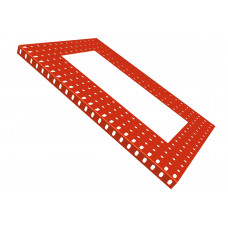 Flanged plate, 15 x 23 holes, with 7 x 17h extract