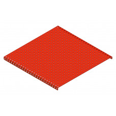 Flanged plate, 25 x 25 holes