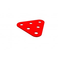 Triangular plate, small, 6 holes