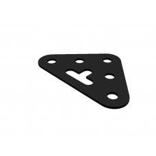 Triangular plate, medium, 5 holes, short slot